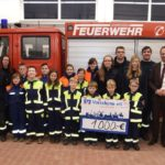 Scheckübergabe der Volksbank e.G. Wolfenbüttel an die Freiwillige Feuerwehr Wolsdorf am 04. Februar 2019