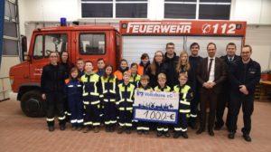Read more about the article Scheckübergabe der Volksbank e.G. Wolfenbüttel an die Freiwillige Feuerwehr Wolsdorf am 04. Februar 2019
