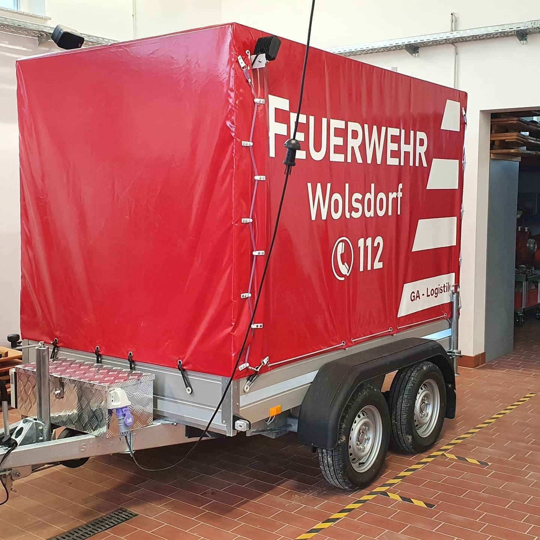 Feuerwehr Anhänger Logistik